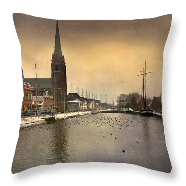 Cityscape Throw Pillow by Annie  Snel