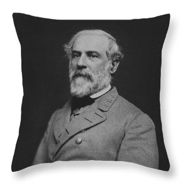 Civil War General Robert E Lee Throw Pillow by War Is Hell Store
