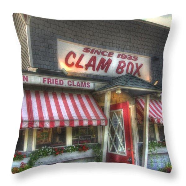 Clam Box Restaurant - Ipswich MA Throw Pillow by Joann Vitali
