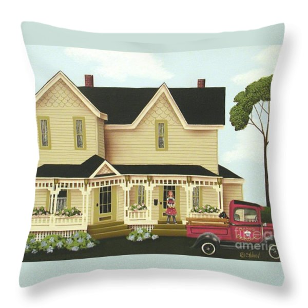 Clara's Confections Throw Pillow by Catherine Holman
