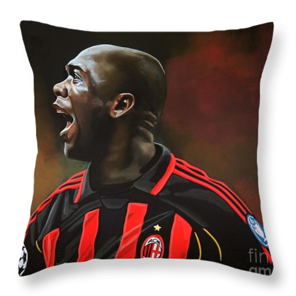 Clarence Seedorf Throw Pillow by Paul  Meijering