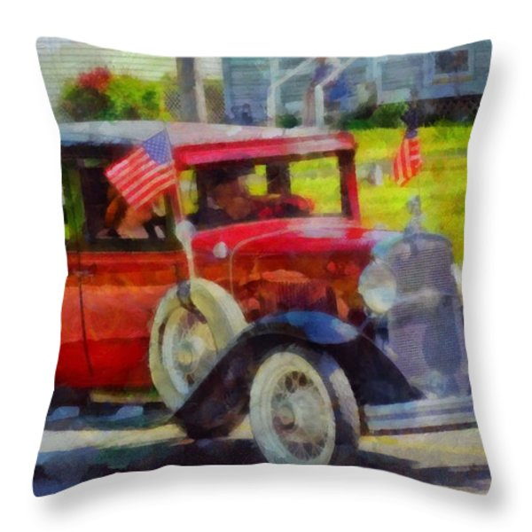 Classic Cars American Tradition Throw Pillow by Dan Sproul