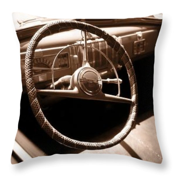 Classic Cars Throw Pillow by Edward Fielding