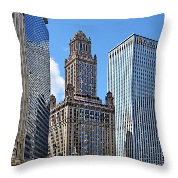 Classic Chicago -  The Jewelers Building Throw Pillow by Christine Till