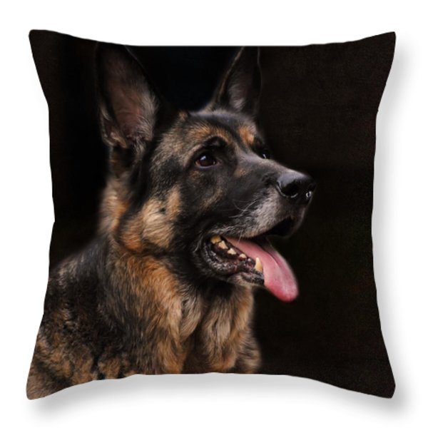 Classic German Shepherd Throw Pillow by Jai Johnson