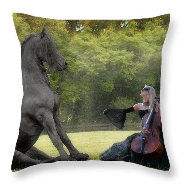 Classical Baroque Throw Pillow by Fran J Scott