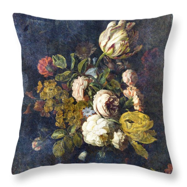 Classical Bouquet - S0104t Throw Pillow by Variance Collections