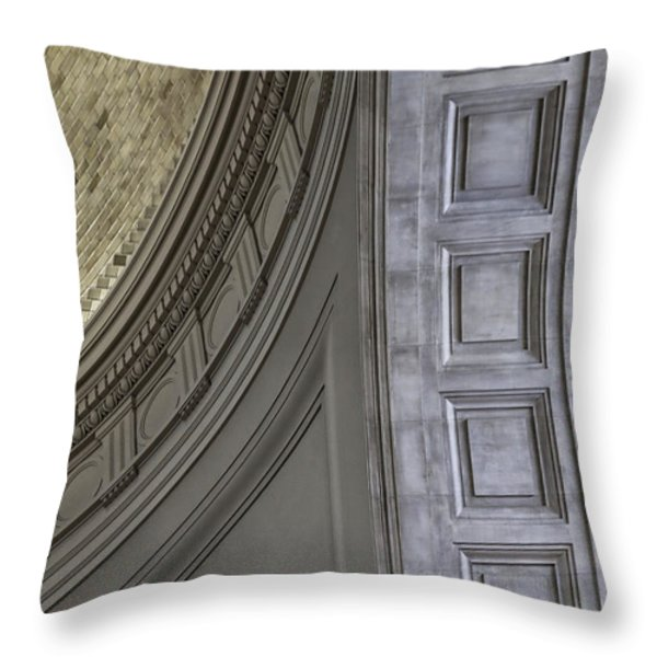 Classical Dome And Vault Details Throw Pillow by Lynn Palmer