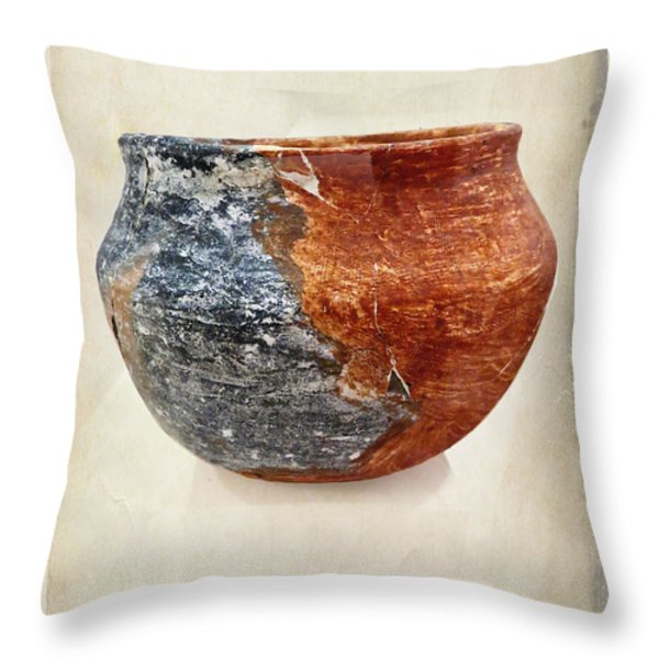Clay Pottery  - Fine Art Photography Throw Pillow by Ella Kaye Dickey