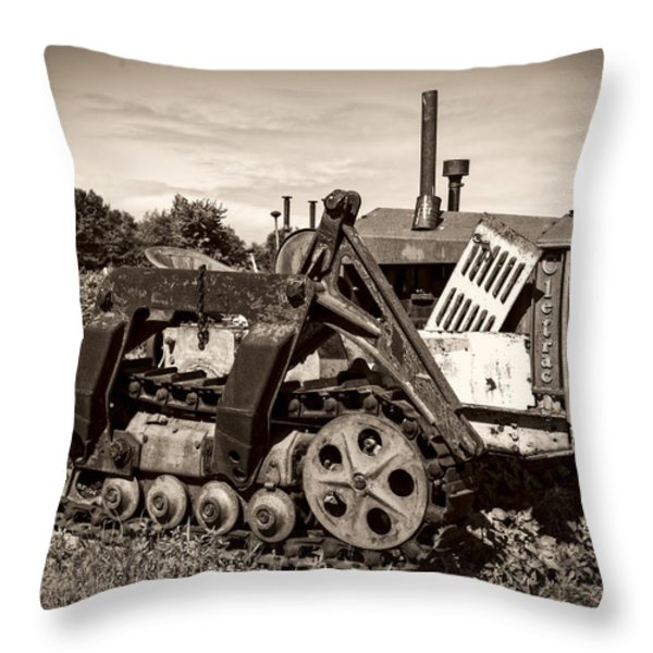 Cletrac Throw Pillow by Debra and Dave Vanderlaan