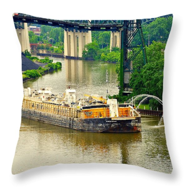 Cleveland Fire Department Throw Pillow by Frozen in Time Fine Art Photography