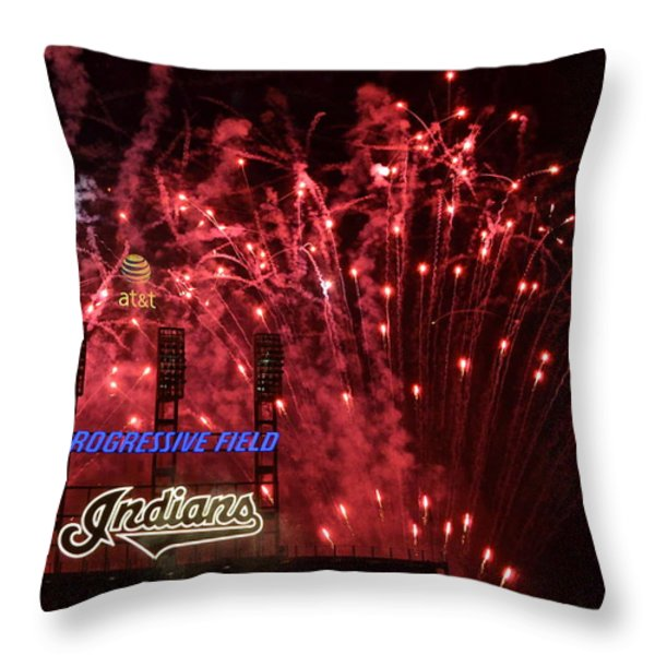 Cleveland Indians Throw Pillow by Frozen in Time Fine Art Photography