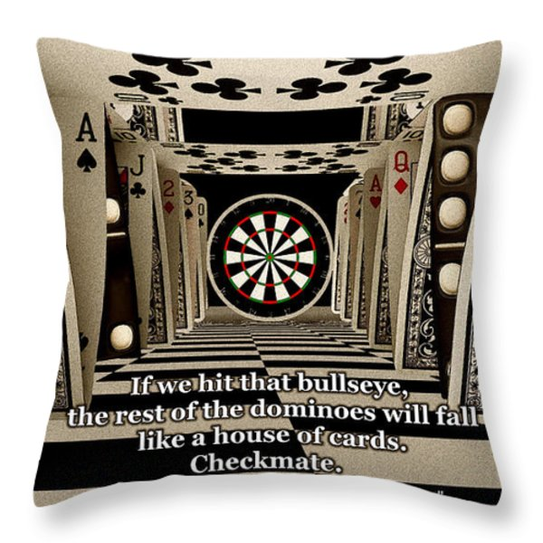 Cliche Throw Pillow by Anastasiya Malakhova