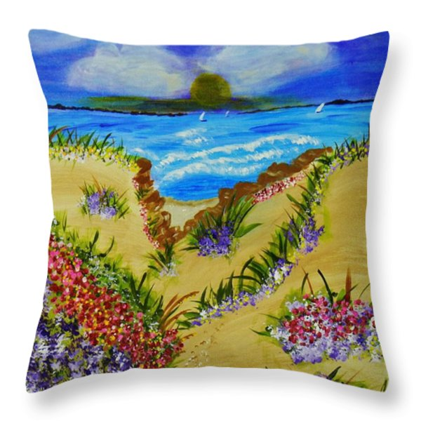 Cliff Notes Throw Pillow by Celeste Manning