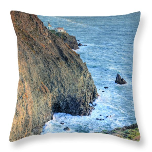Cliffs Throw Pillow by JC Findley