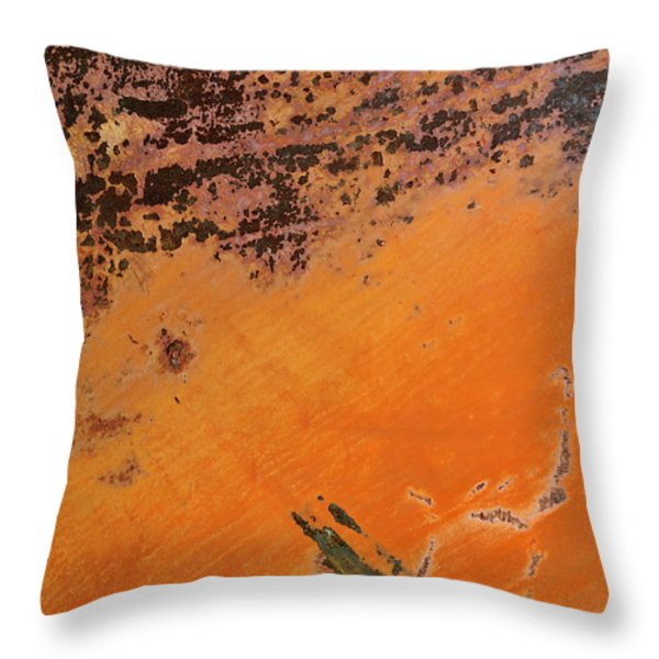 Cliffs Of Mars Throw Pillow by Fran Riley