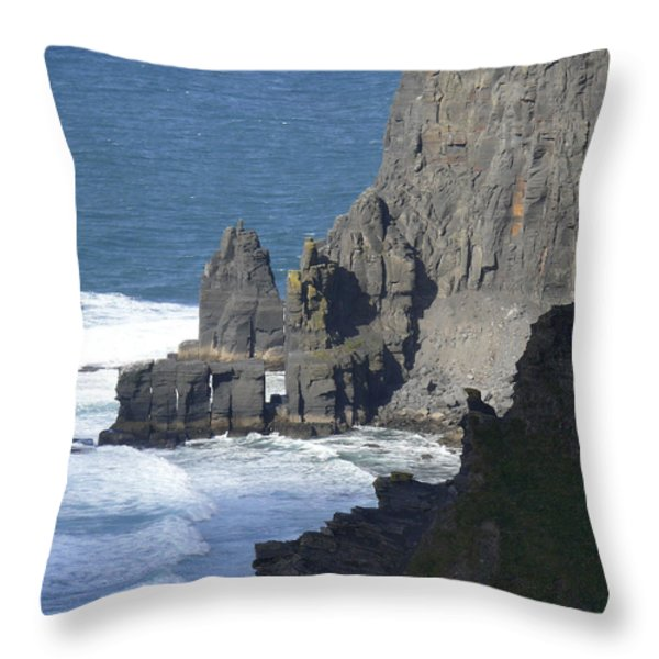 Cliffs Of Moher 6 Throw Pillow by Mike McGlothlen