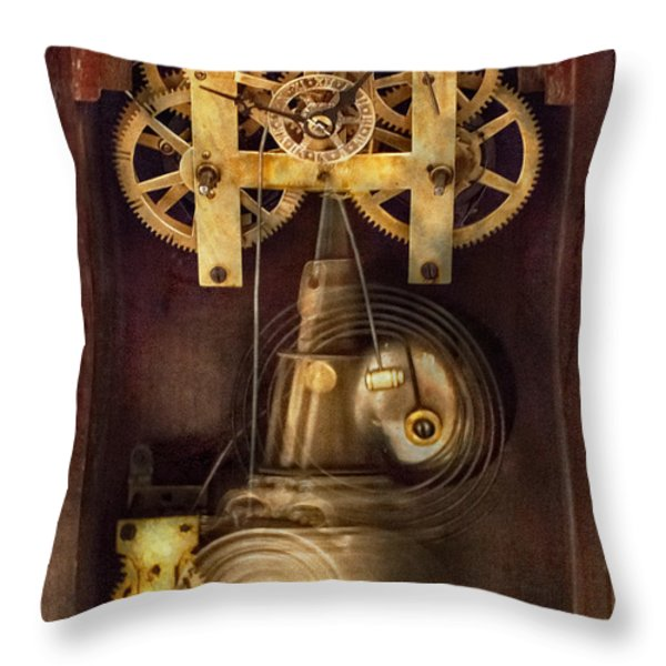 Clockmaker - The Mechanism  Throw Pillow by Mike Savad
