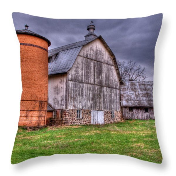 Close Up Of The Rose Farm Throw Pillow by Thomas Young