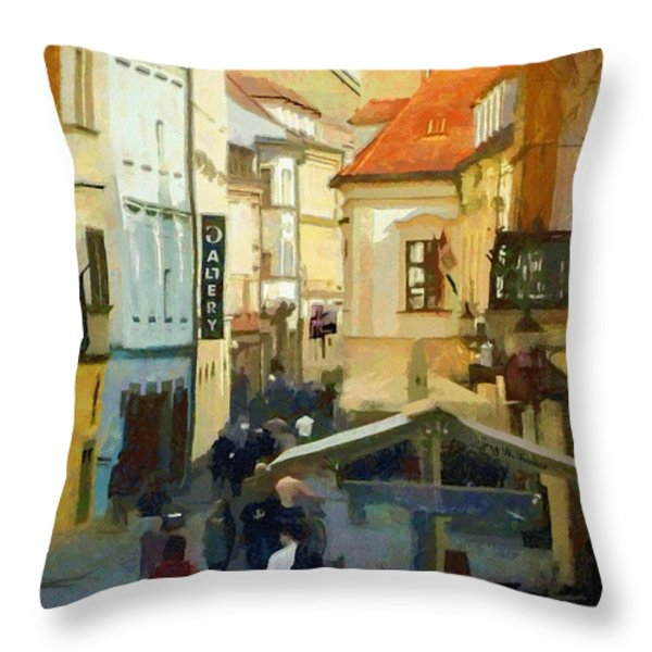 Closing Time Throw Pillow by Jeff Kolker