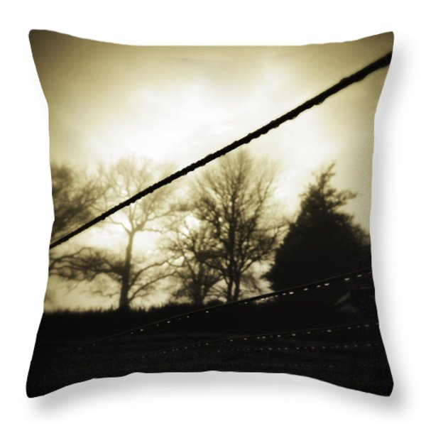 Clotheslines  Throw Pillow by Les Cunliffe
