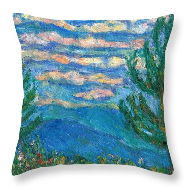 Cloud Color Throw Pillow by Kendall Kessler