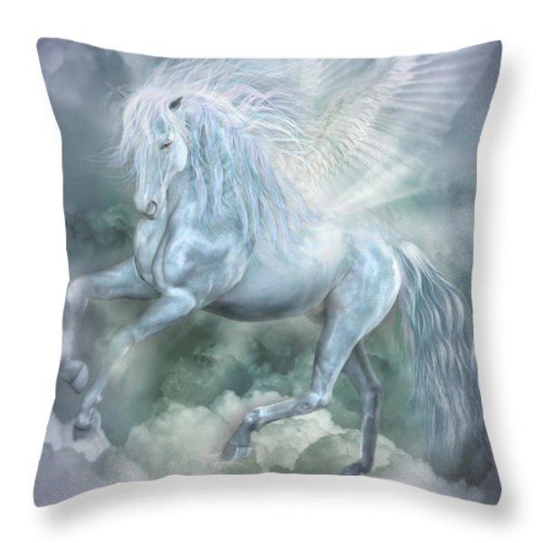 Cloud Dancer Throw Pillow by Carol Cavalaris