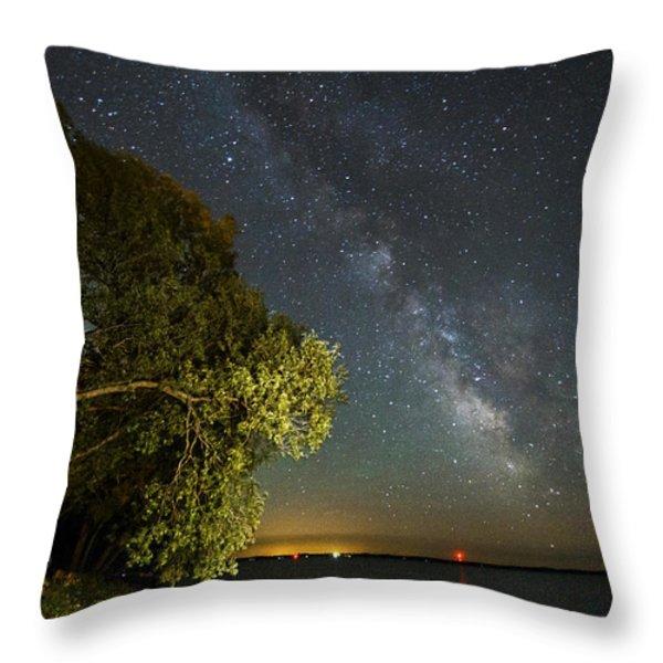Cloud Of Stars Throw Pillow by Matt Molloy
