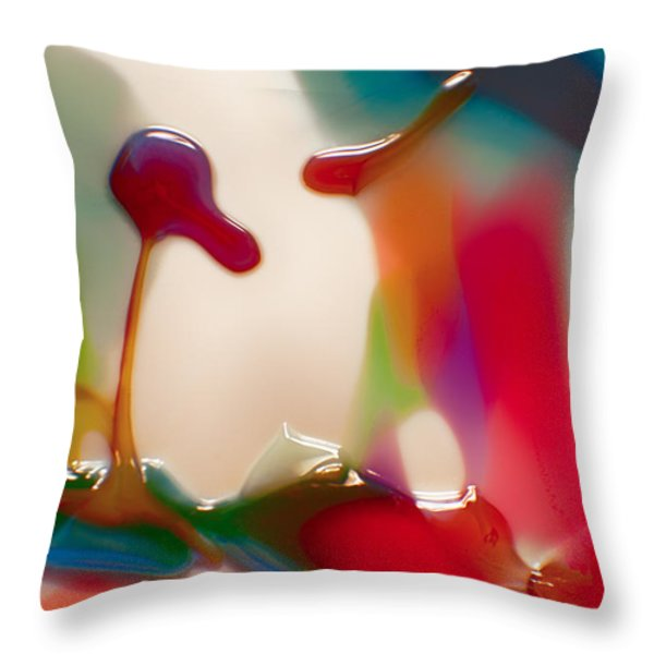 Cloud Talking Throw Pillow by Omaste Witkowski