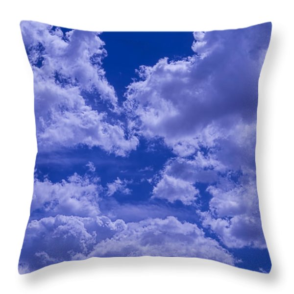 Cloud Watching Throw Pillow by Garry Gay