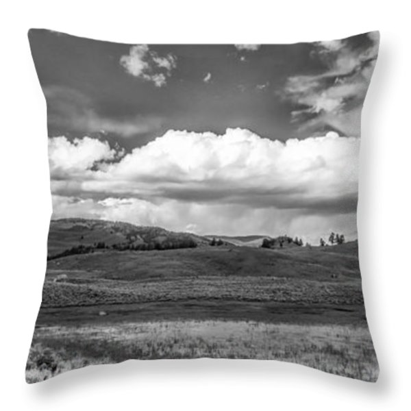 Clouds on the Plain Throw Pillow by Jon Glaser