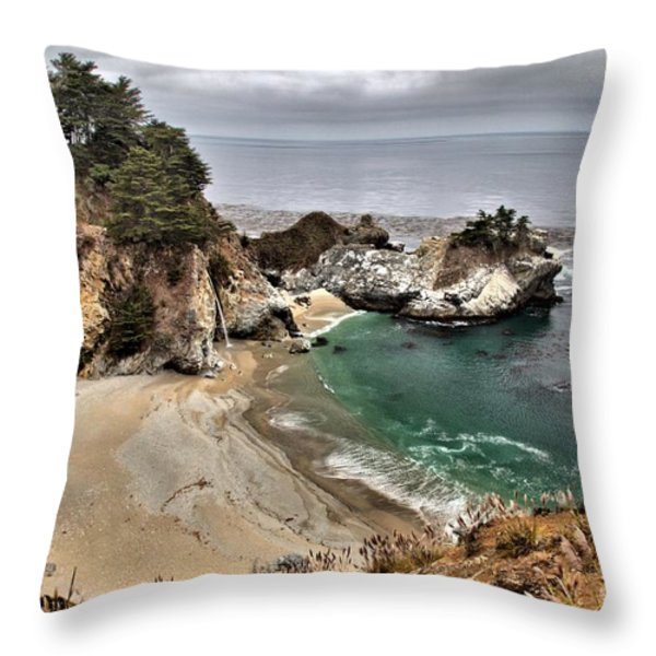 Clouds Over McWay Throw Pillow by Adam Jewell