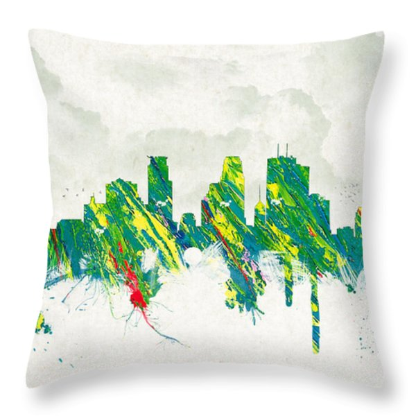 Clouds Over Minneapolis Minnesota USA Throw Pillow by Aged Pixel
