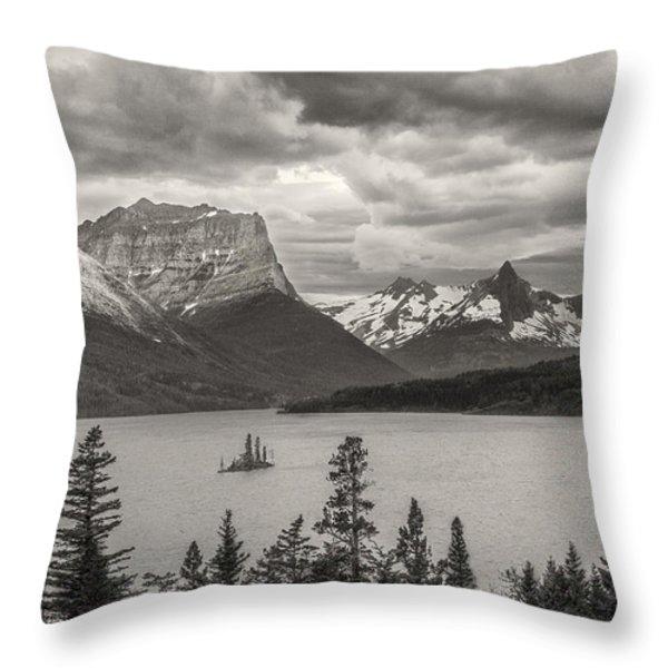 Cloudy Mountain Top Throw Pillow by Jon Glaser