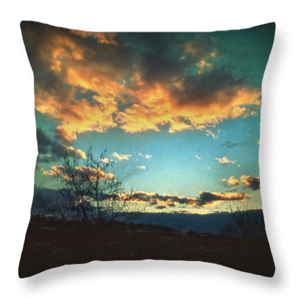 Cloudy Now Throw Pillow by Taylan Soyturk