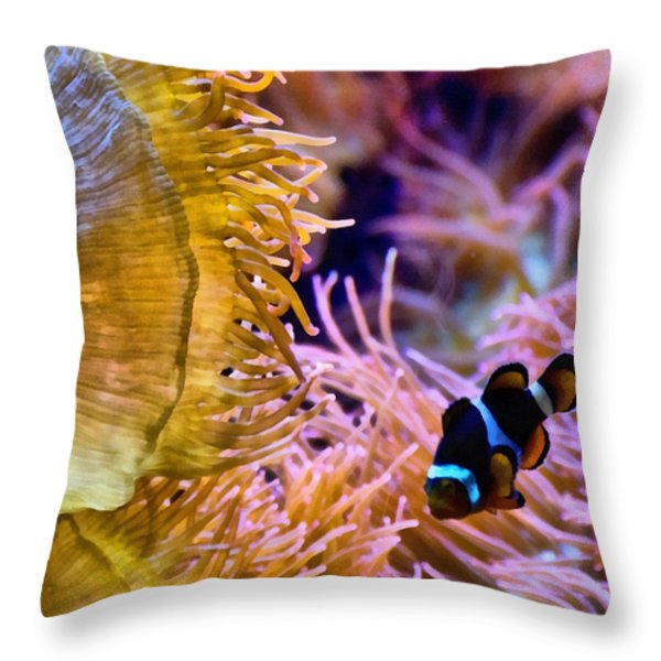 Clown Comfort Zone Throw Pillow by Angelina Vick