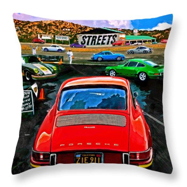 Club Racing Throw Pillow by Alan Greene