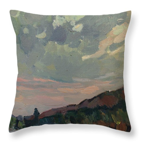 Coast at sunset Throw Pillow by JULIYA ZHUKOVA