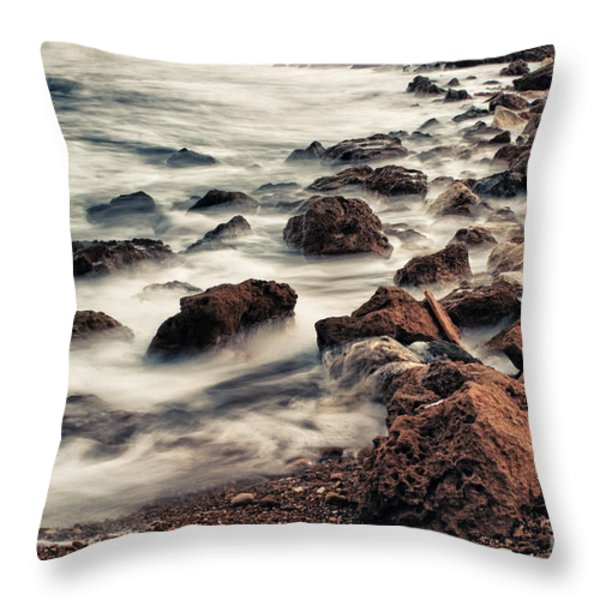 Coast Throw Pillow by Stylianos Kleanthous