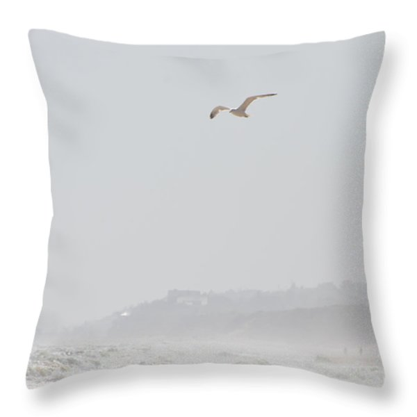 Coastal Beach Serenity Throw Pillow by Adspice Studios