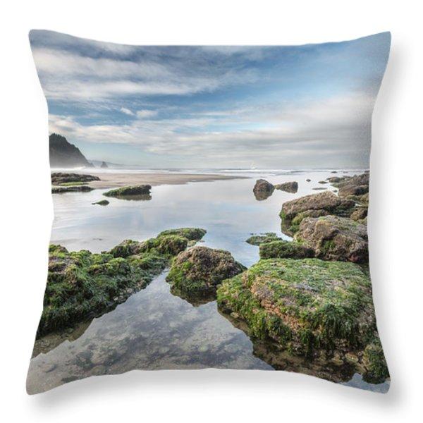 Coastal Colors Throw Pillow by Jon Glaser