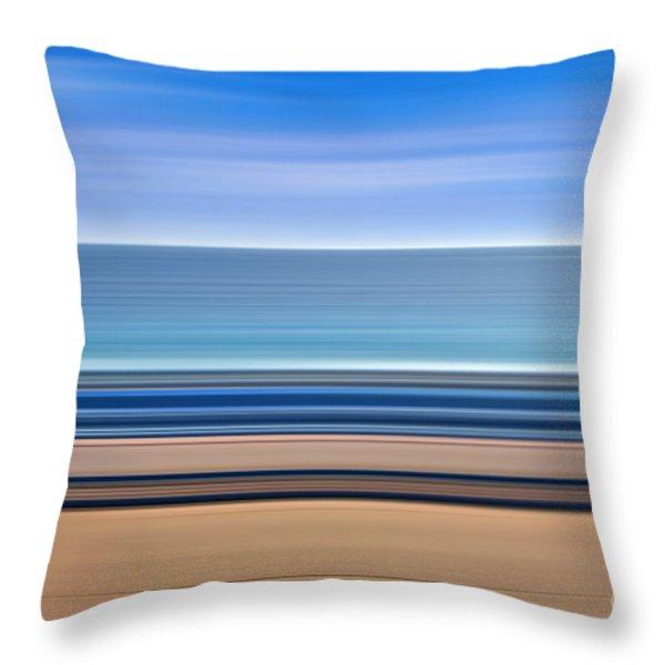 Coastal Horizon 1 Throw Pillow by Delphimages Photo Creations