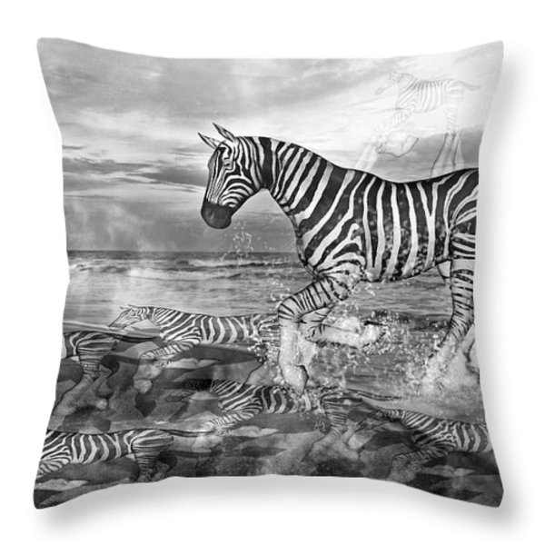 Coastal Stripes II Throw Pillow by Betsy A  Cutler