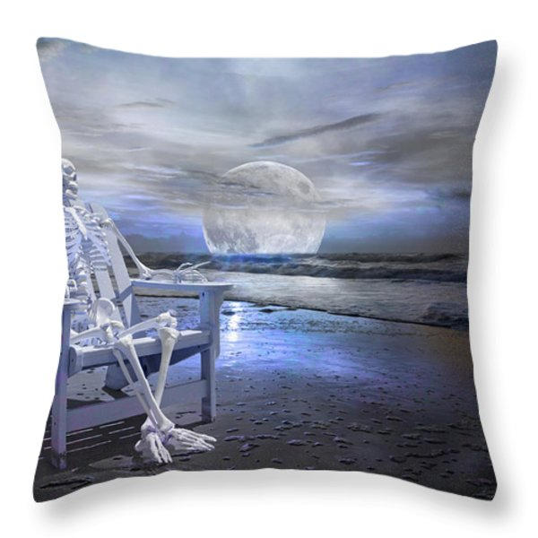 Coastal Tales  Throw Pillow by Betsy A  Cutler