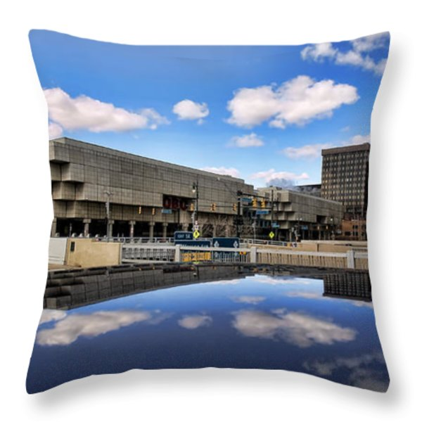 Cobo Hall Detroit Michigan Throw Pillow by Gordon Dean II