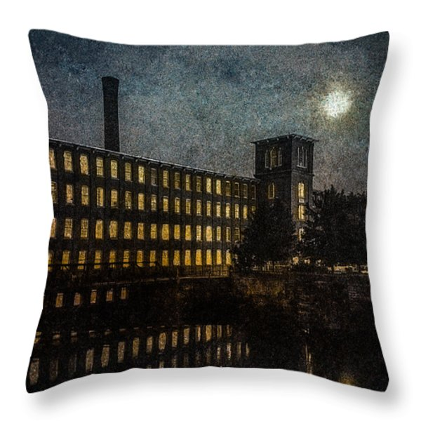 Cocheco Falls Millworks Throw Pillow by Bob Orsillo