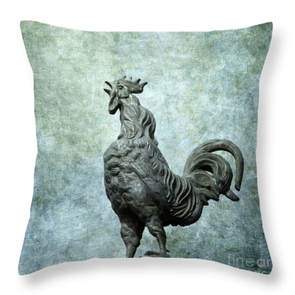 Cock Throw Pillow by BERNARD JAUBERT