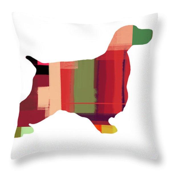 Cocker Spaniel 2 Throw Pillow by Naxart Studio