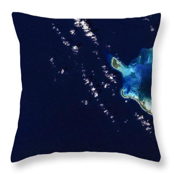 Cocos Islands Throw Pillow by Adam Romanowicz