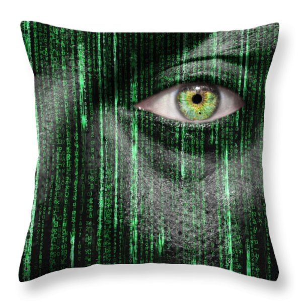 Code Breaker Throw Pillow by Semmick Photo